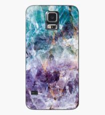 Turquoise & Purple Quartz Crystal Case/Skin for Samsung Galaxy