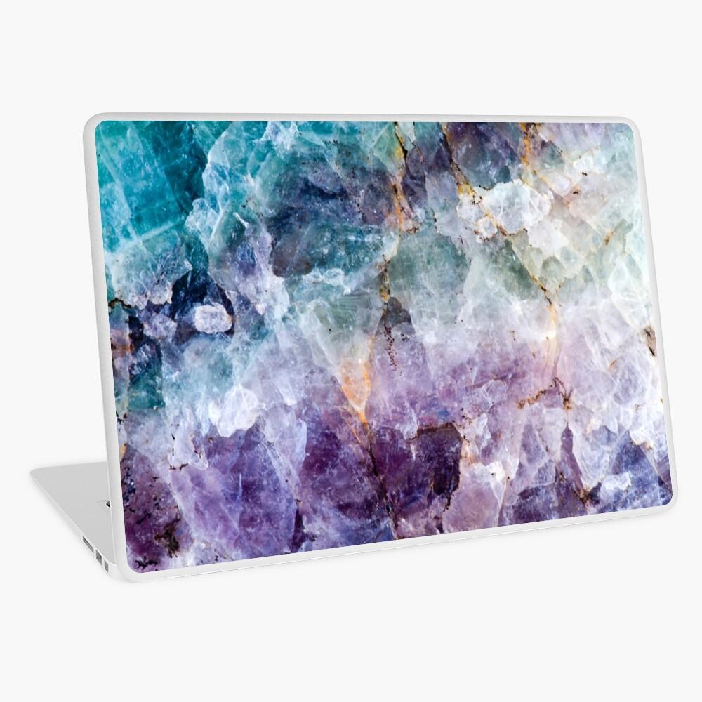Türkis & Lila Quarzkristall Laptop Folie