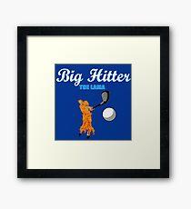 big hitter Llama - caddyshack Framed Print
