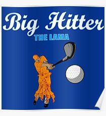 big hitter Llama - caddyshack Poster