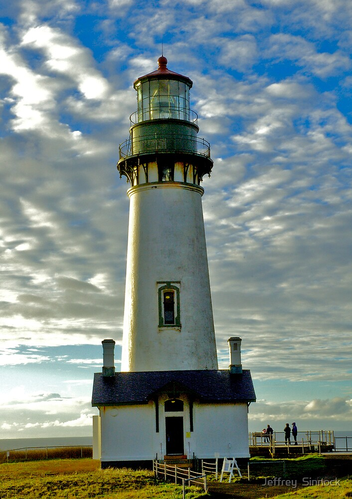 Yaquina head light house Oregon coast by Jeffrey  Sinnock