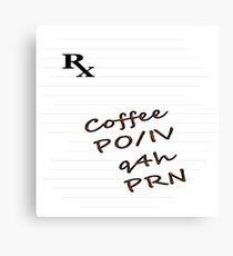 Coffee Rx Canvas Print