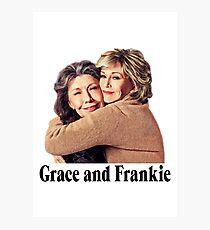Grace and Frankie Hug 2 Photographic Print