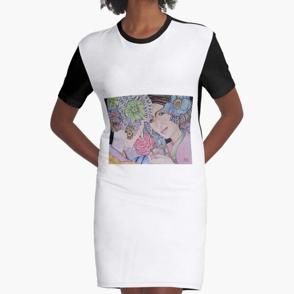 Art Deco Ladies Graphic T-Shirt Dress