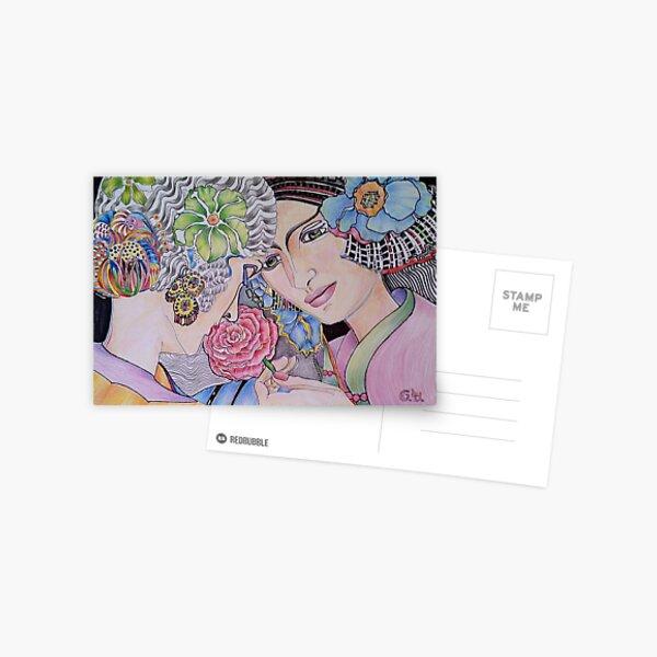 Art Deco Ladies Postcard