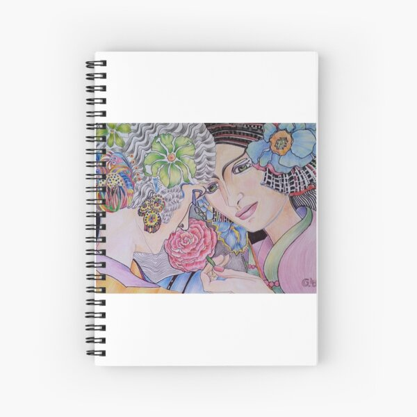 Art Deco Ladies Spiral Notebook