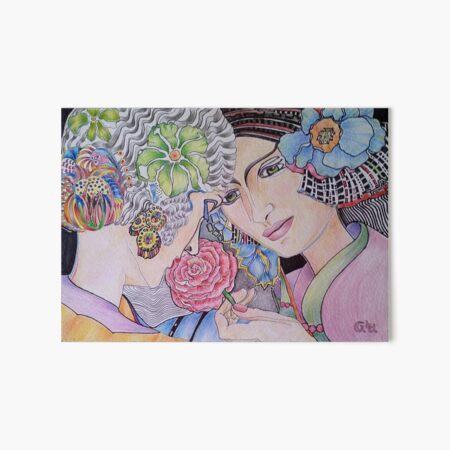 Art Deco Ladies Art Board Print