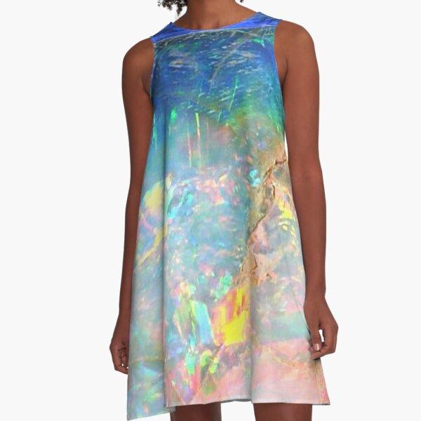 Ocean Opal A-Line Dress