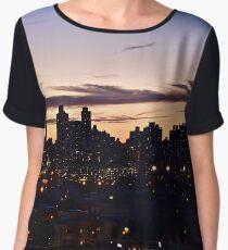 New York Sunset Women's Chiffon Top