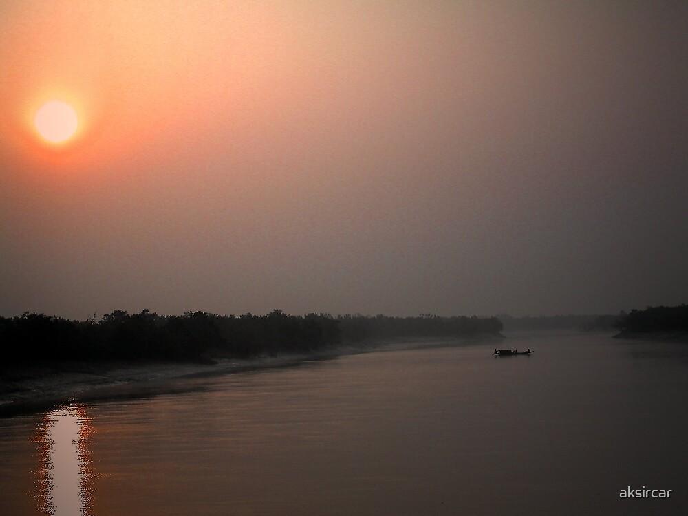 Sunrise at Sunderbans by aksircar