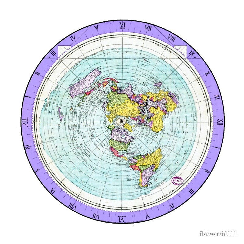 Flat earth map azimuthal equidistant projection map purple flat earth map azimuthal equidistant projection map purple by flatearth1111 gumiabroncs Images