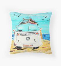 Freedom VW Kombi Van  Throw Pillow