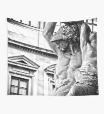 Travel - Polyxena Statue in Florence Italy - digital black and white landscape wall tapestry Wall Tapestry