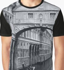 The Bridge of Sighs in Venice Italy Travel Water Architecture Landscape Graphic T-Shirt