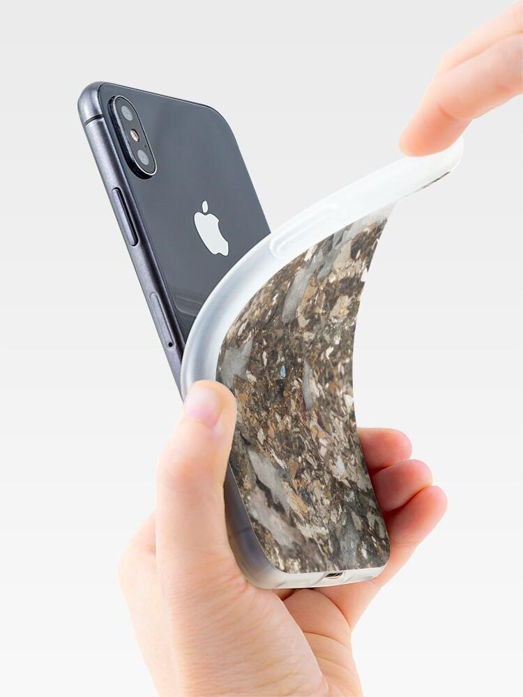 Vista alternativa de Funda y vinilo para iPhone Matrimonio de pirita y cuarzo