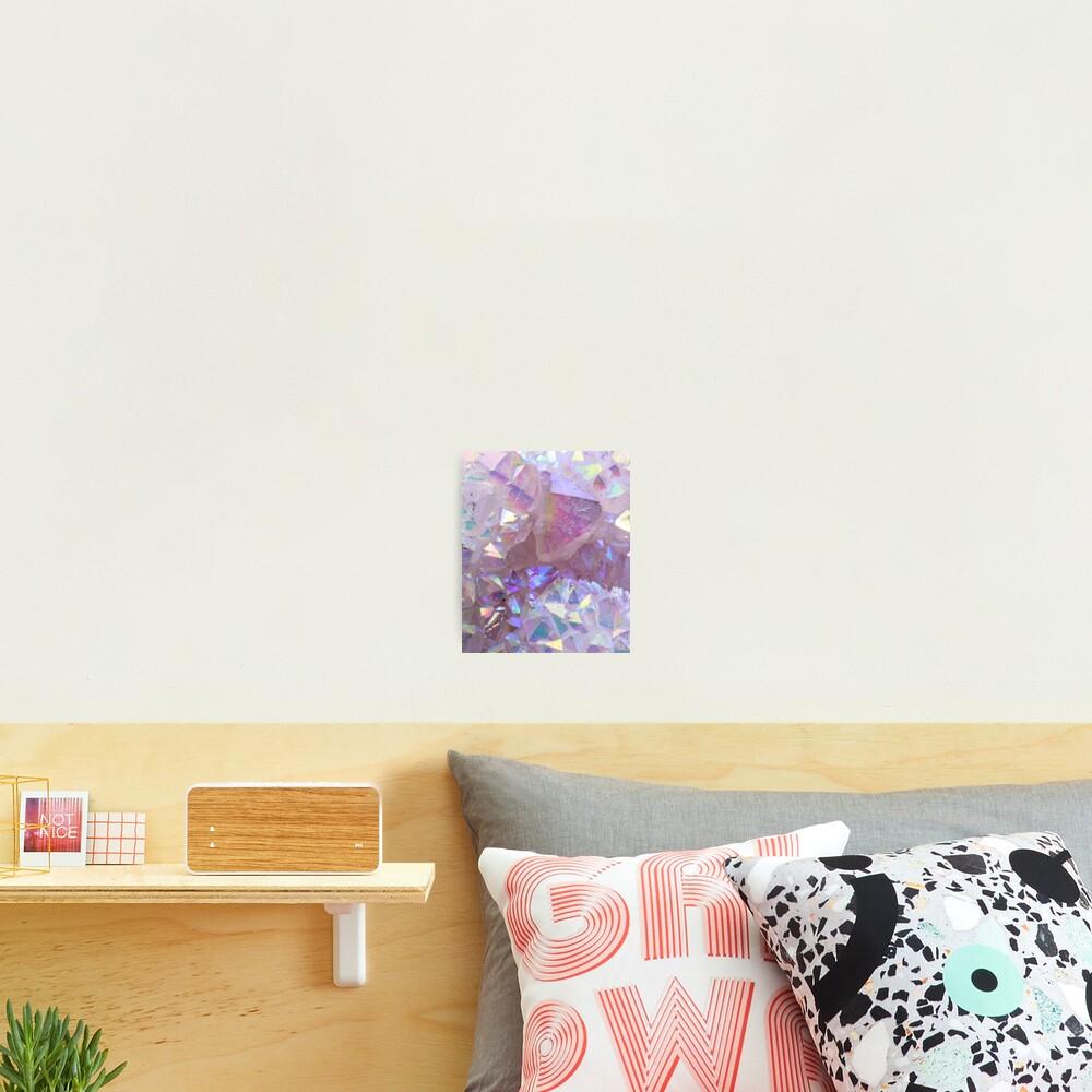 Pink Aura Crystals Photographic Print