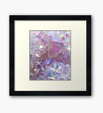 Pink Aura Crystals Framed Print