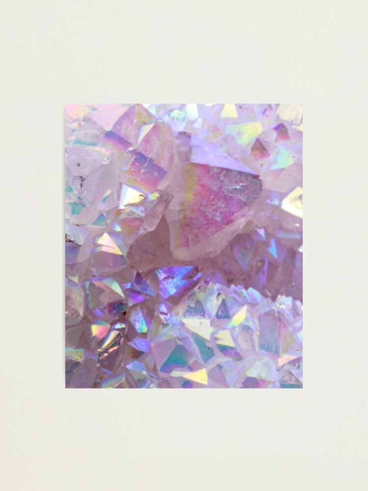 Alternate view of Pink Aura Crystals Photographic Print