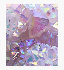 Pink Aura Crystals Photographic Print