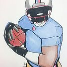 Football Player by Loretta Nash