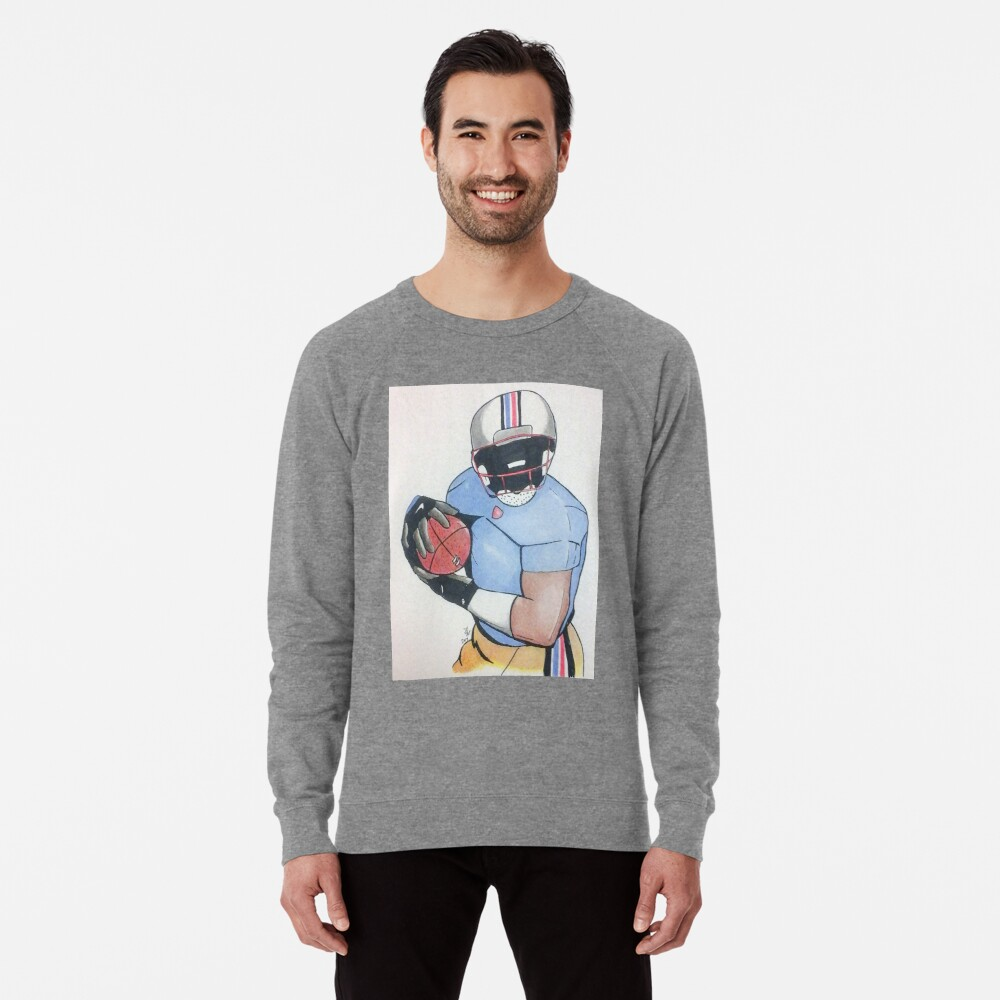 Football Player Lightweight Sweatshirt Front