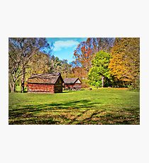 Johnson City Tennessee Cabins Photographic Print