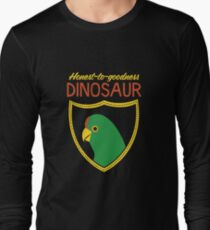 Honest-To-Goodness Dinosaur: Parakeet (on dark background) Long Sleeve T-Shirt