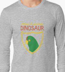 Honest-To-Goodness Dinosaur: Parakeet (on dark background) Long Sleeve T-Shirt
