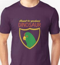 Honest-To-Goodness Dinosaur: Parakeet (on dark background) Unisex T-Shirt