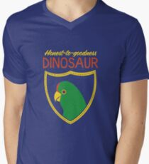 Honest-To-Goodness Dinosaur: Parakeet (on dark background) Men's V-Neck T-Shirt