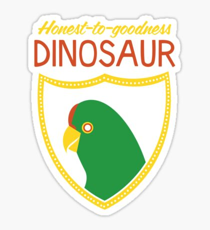 Honest-To-Goodness Dinosaur: Parakeet (on dark background) Sticker