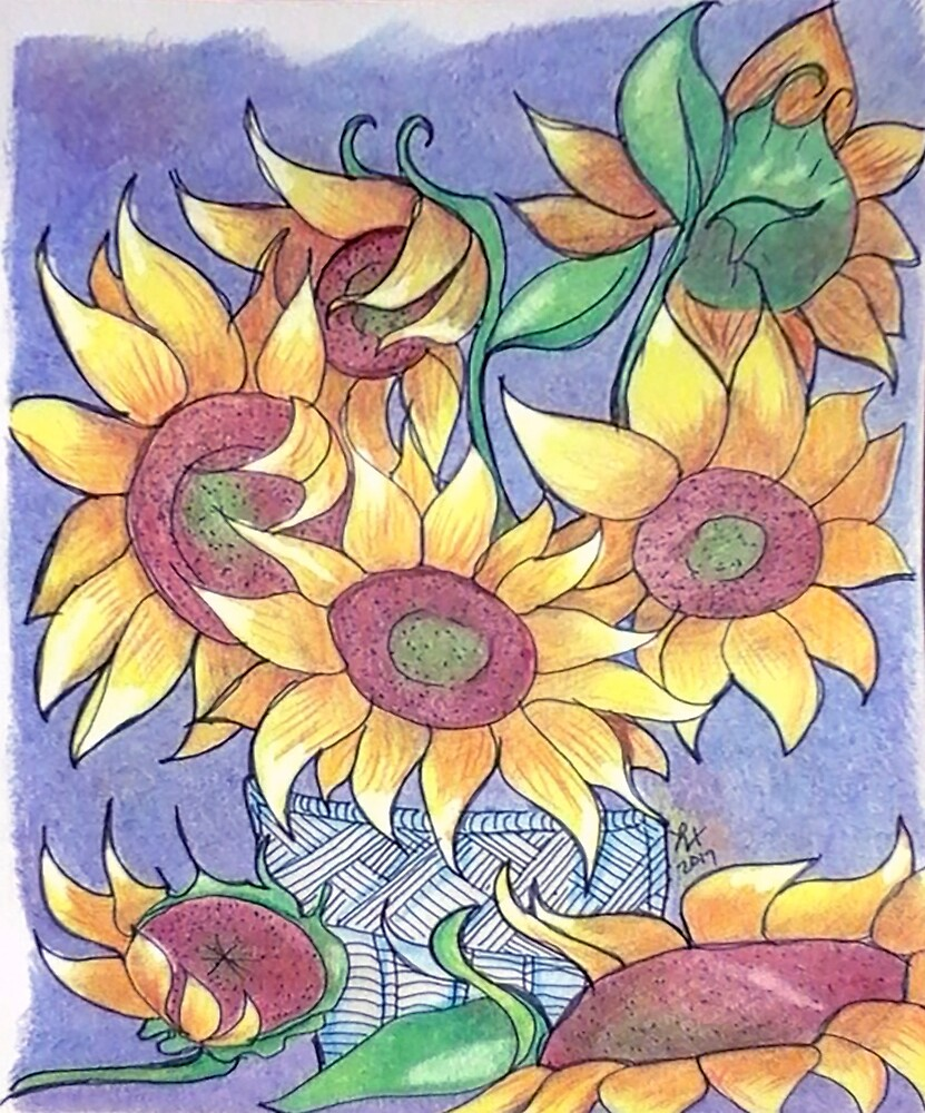 More sunflowers by Loretta Nash