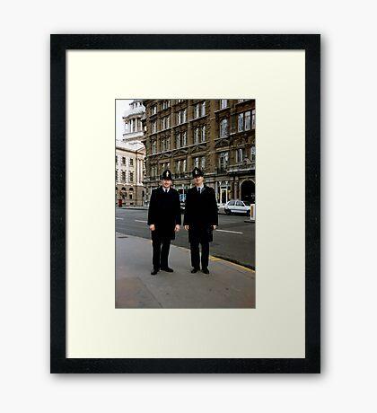 London Bobbies Framed Print