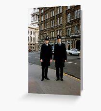 London Bobbies Greeting Card