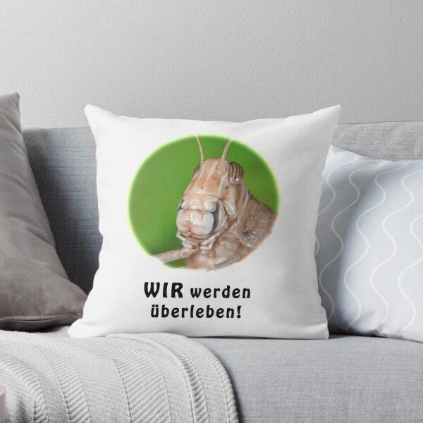 Fröhliche Wüstenheuschrecke Dekokissen