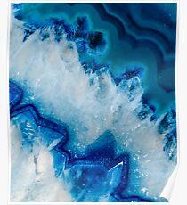Königlich blauer Achat Poster