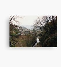 Castleton - looking back from Peak Cavern Canvas Print