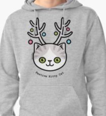 Festive Kitty Cat Pullover Hoodie