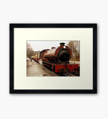 Haiverthwaite Steam Train Framed Print