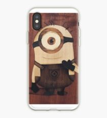 Cute minion of wood iPhone Case
