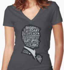 Legendary Women's Fitted V-Neck T-Shirt