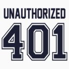 Error 401 - Unauthorized - Navy Letters by JRon