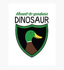 Honest-To-Goodness Dinosaur: Duck (on light background) Photographic Print