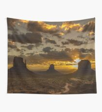 sunrise Landscape Nature Tapestry - Monument Valley - Utah/Arizona  3 Wall Tapestry