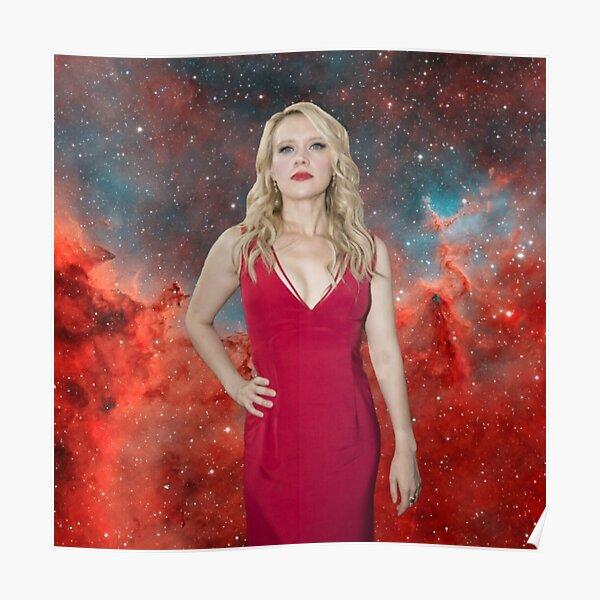 Kate McKinnon Galaxy Background Poster