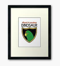 Honest-To-Goodness Dinosaur: Parakeet (on light background) Framed Print