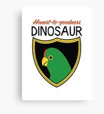 Honest-To-Goodness Dinosaur: Parakeet (on light background) Canvas Print