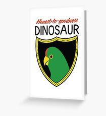 Honest-To-Goodness Dinosaur: Parakeet (on light background) Greeting Card