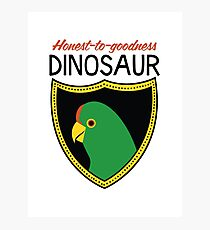 Honest-To-Goodness Dinosaur: Parakeet (on light background) Photographic Print
