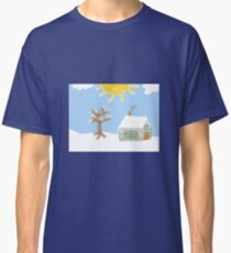 Naive Winter Scene Classic T-Shirt